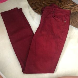 Seven for all mankind cranberry jeans!